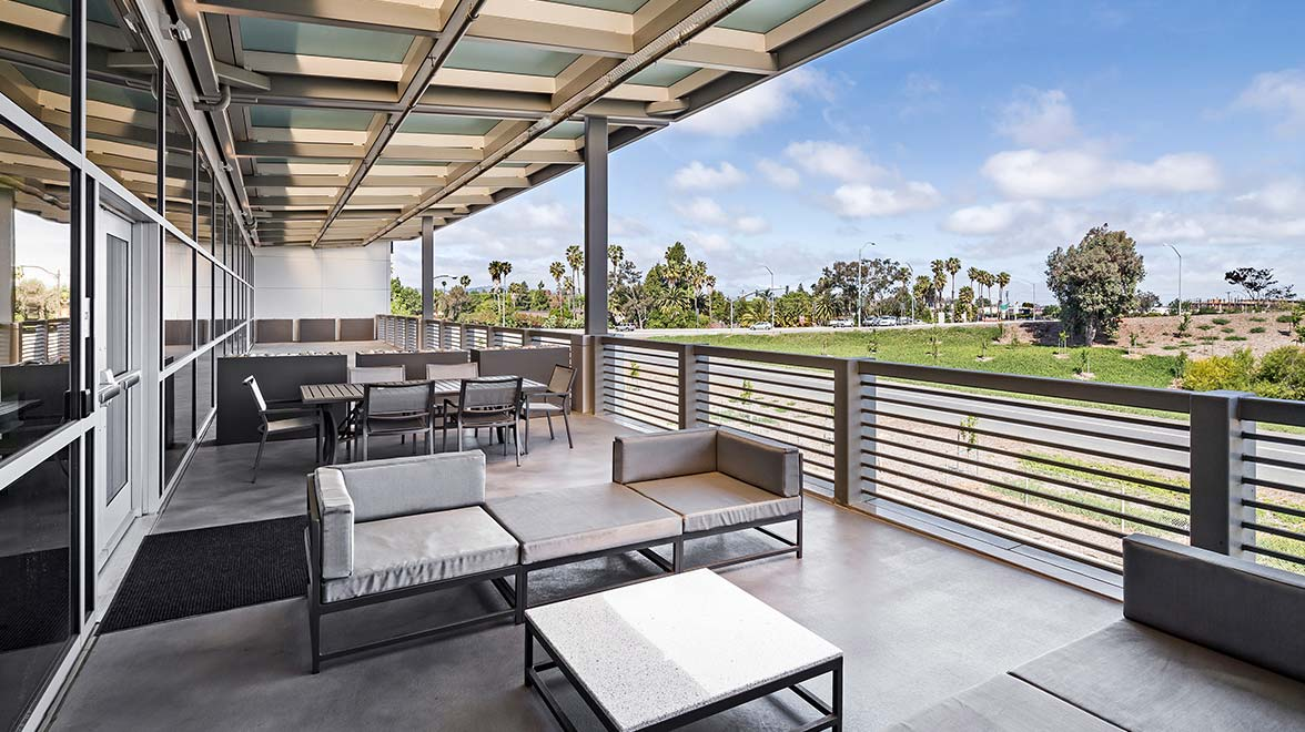 Terrace with view at 4085 Campbell Avenue in Menlo Park